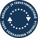 Sosiaali- ja terveysministeriö tukee Veikkauksen tuotolla -logo